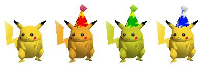 Paleta de colores Pikachu SSB