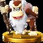 Trofeo de Cranky Kong SSB4 (Wii U)