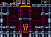 Ascensor final Super Metroid