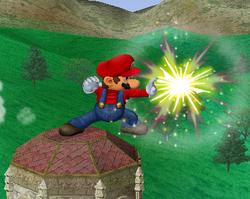 Ataque Smash lateral de Mario SSBM