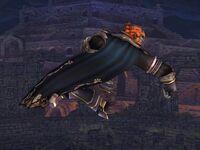 Ataque aéreo delantero Ganondorf SSBB