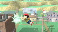 Ataque aéreo hacia adelante Ness SSB4 (Wii U)