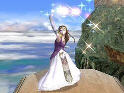 Ataque fuerte superior Zelda SSBB