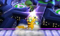 Lanzamiento superior Pikachu SSB4 (3DS)