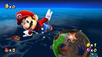 Mario usando un Anillo estelar en Super Mario Galaxy