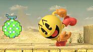 Pac-Man usando Fruta de bonificación SSBU