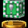 Trofeo Bloque Verde SSB4 (Wii U)