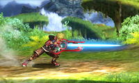 Ataque Smash lateral Shulk SSB4 (3DS)