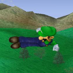 Ataque aéreo hacia atrás de Luigi SSBM