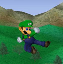 Ataque aéreo normal de Luigi SSBM