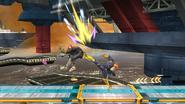 Lanzamiento trasero de Captain Falcon SSB4 (Wii U)