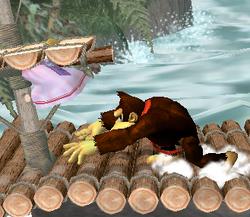 Lanzamiento trasero de Donkey Kong (4) SSBM