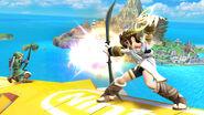Pit usando el Arco de Palutena SSB4 (Wii U)