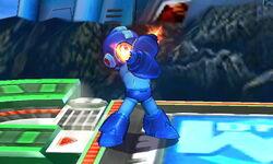 Ataque Smash hacia abajo de Mega Man (1) SSB4 (3DS)
