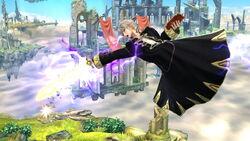 Ataque aéreo hacia atras Robin SSB4 (Wii U)