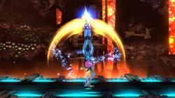 Ataque fuerte superior de Samus Zero (2) SSB4 (Wii U)