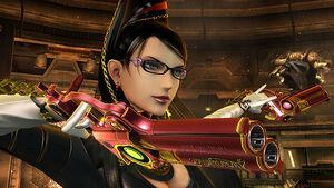 Bayonetta (traje alternativo) en la Pirosfera SSB4 (Wii U)