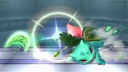 Ivysaur lanzando una Hoja Navaja SSBB