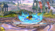 Karateka Mii usando Golpe Martillo (3) SSB4 (Wii U)