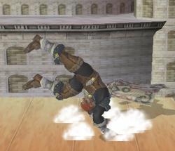 Ataque de recuperación de cara al suelo de Ganondorf (1) SSBM