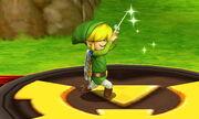 Burla superior Toon Link SSB4 (3DS)