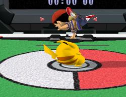 Lanzamiento hacia arriba de Pikachu (1) SSBM