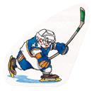 Pegatina de Jugador de hockey gordo SSBB