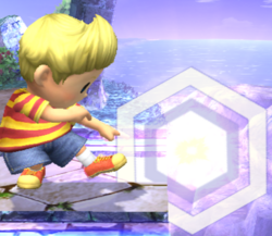 Ataque Smash inferior Lucas SSBB (2)