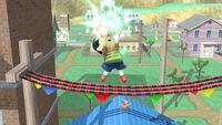 Ataque fuerte hacia arriba Ness SSB4 (Wii U)