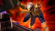 Captain Falcon haciendo su Smash Final SSB4 (Wii U)