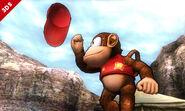 Diddy Kong haciendo su burla superior en el Valle Gerudo SSB4 (3DS)