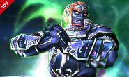 Ganondorf en posesión de la Bola Smash SSB4 (3DS)