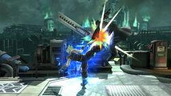 Lanzamiento hacia arriba Cloud (1) SSB4 (Wii U)