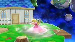 Ataque Smash hacia abajo Peach SSB4 Wii U