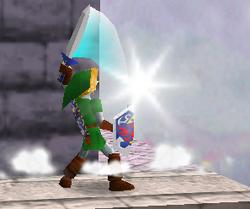 Ataque Smash hacia arriba de Link (3) SSB