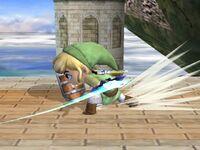 Ataque Smash inferior Toon Link SSBB