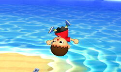 Ataque aéreo normal Aldeano SSB4 (3DS)