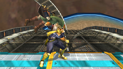 Lanzamiento inferior Captain Falcon SSBB (1)