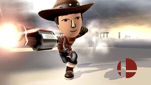 Pose de victoria (2) Tirador Mii SSB4 Wii U
