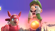 Luigi y Rush en Campo de Batalla SSB4 (Wii U)