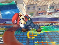 Ataque Smash hacia arriba (3) Mario SSBB