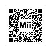 Código QR para el Mii de MegaMan.EXE