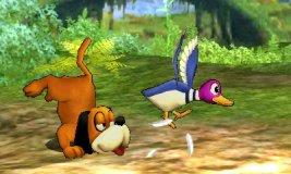 Dúo Duck Hunt usando su ataque rápido en SSB4 (3DS)