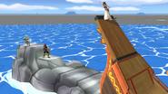 Gran roca en el Barco pirata SSBB
