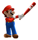 Pegatina Mario (Mario Superstar Baseball) SSBB