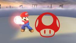 Pose de victoria hacia arriba (1) Mario SSB4 (Wii U)