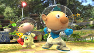 Alph y Olimar en el Vergel de la Esperanza SSB4 (Wii U)