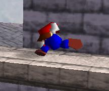Ataque fuerte lateral de Mario SSB