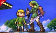 Link y Toon Link SSB4 (3DS)