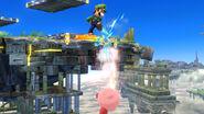 Luigi y Kirby en Campo de batalla SSB4 (Wii U)